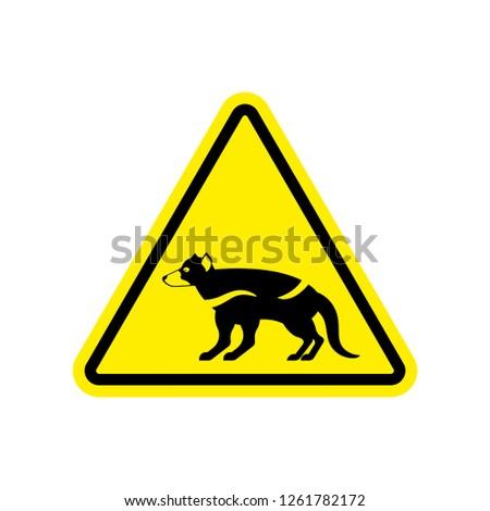 Attention Tasmanian devil. Danger is wild beast. yellow prohibit Stock photo © popaukropa