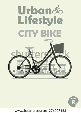 Cycling or commuting in city urban environment, ecological trans Stock photo © 2Design