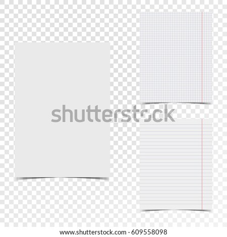 Vector sheet of lined letter size paper for notes, isolated on white background. Stock photo © kyryloff