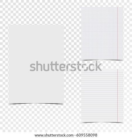 ベクトル シート 手紙 サイズ 紙 ノート ストックフォト © kyryloff
