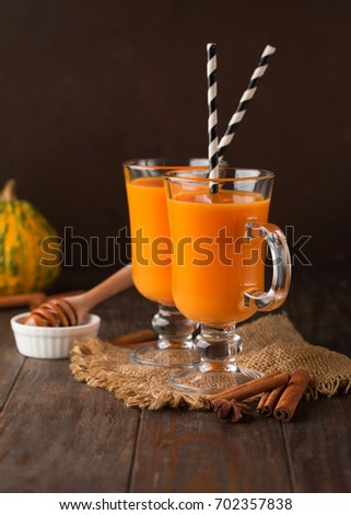 Foto stock: Saudável · cenoura · laranja · canela · vidro