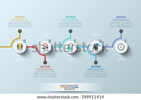 Modern clean business style timeline template with icons. Vector. can be used for workflow layout, d Stock photo © kyryloff