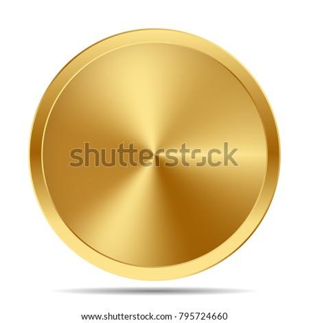 Gerçekçi altın madeni örnek temizlemek düşen sikke Stok fotoğraf © articular