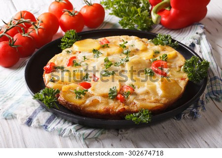 Espagnol tortilla traditionnel tapas alimentaire rustique Photo stock © travelphotography