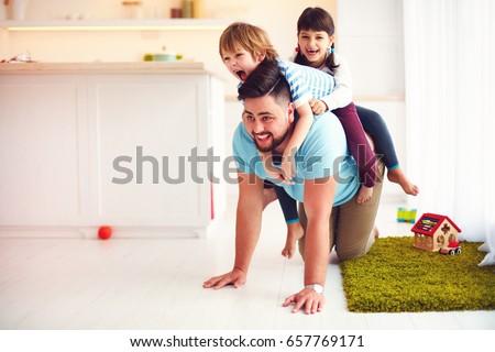 pai · sessão · crianças · ilustração · céu · família - foto stock © popaukropa