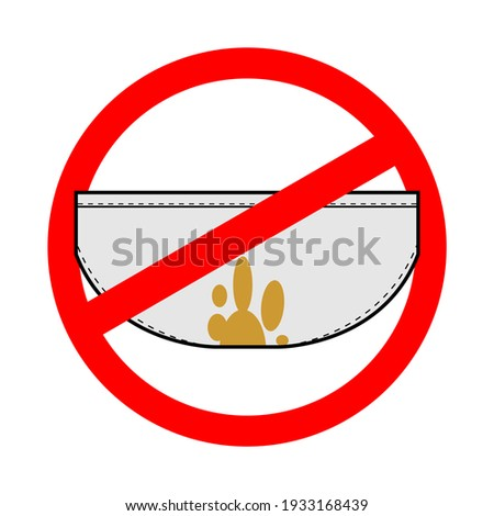Stop dirty underwear. filthy underclothes is forbidden. Red proh Stock photo © popaukropa
