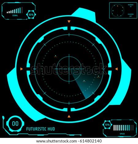 katonaság · radar · képernyő · vektor · digitális · világtérkép - stock fotó © m_pavlov