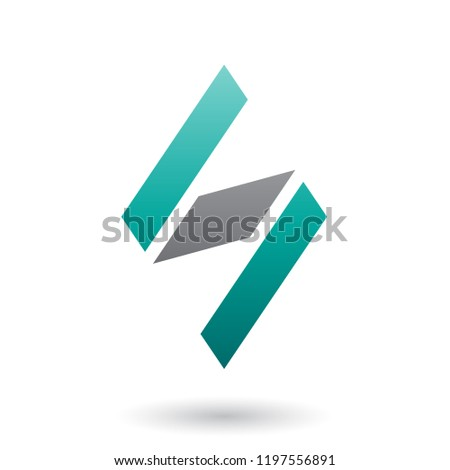 Persian Green and Black Diamond Shaped Letter S Vector Illustrat Stock photo © cidepix