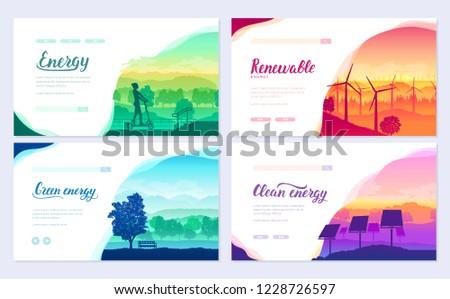завтра Чистая энергия оборудование природы пейзаж Эко Сток-фото © Linetale