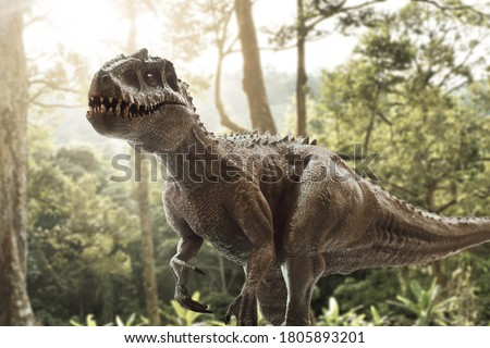 Dinosaur Tyrannosaurus. Angry ancient Predator. Big Reptile Jura Stock photo © popaukropa
