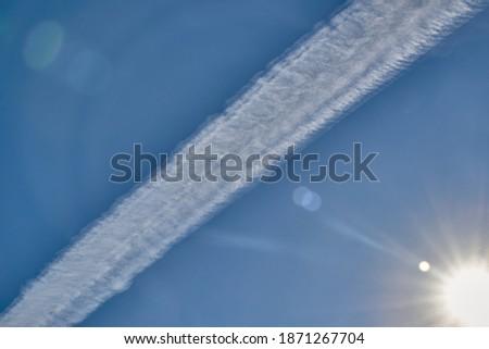 blue · sky · condensação · trilha · aeronave · luz · mundo - foto stock © monkey_business