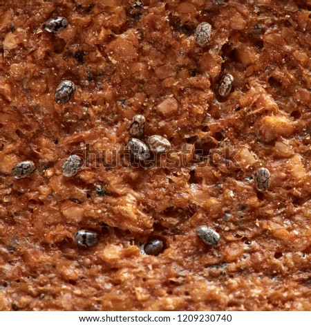Macro texture of oatmeal crunchy with chia seeds. Food background. Stock photo © artjazz