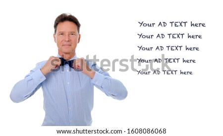 portrait of man wearing shirt with checkers fixing his sunglasse Stock photo © feedough