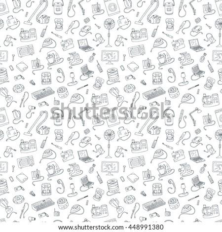 Zestaw gospodarstwo domowe urządzenia ikona cienki Zdjęcia stock © kup1984