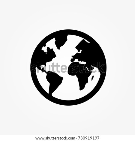 Stock photo: world icon, globe, travelling around the world, vector illustration for web, presentations, ui, mobi