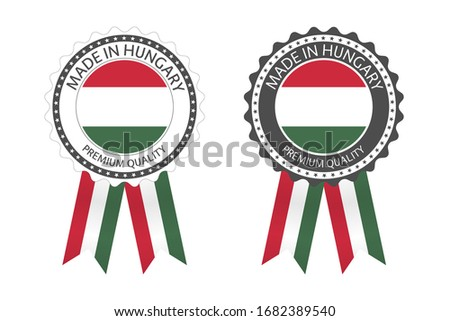 modern vector made in hungary label isolated on white background simple sticker with hungarian colo stock photo © kurkalukas