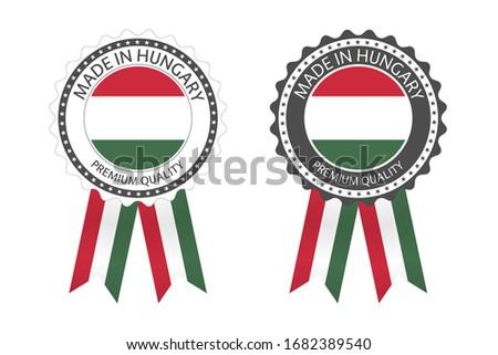 Moderne vector Hongarije label geïsoleerd witte Stockfoto © kurkalukas