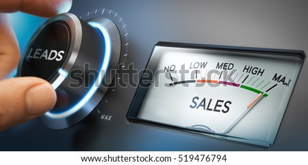 Convert Leads into Customers and Sales, Inbound Marketing Concep Stock photo © olivier_le_moal