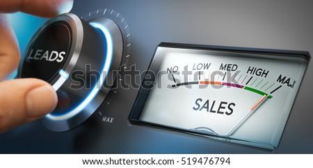 de · vendas · marketing · seis · customizáveis · indicação - foto stock © olivier_le_moal