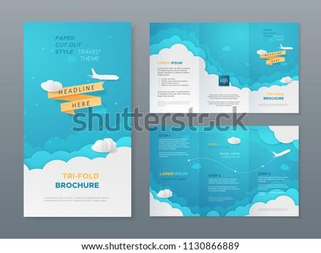 Battant avion ciel bleu papier nuages Photo stock © m_pavlov
