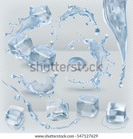 Jégkockák izolált vektor fagy fagy terv Stock fotó © pikepicture