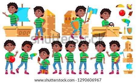 Negro afro americano nino kindergarten nino Foto stock © pikepicture