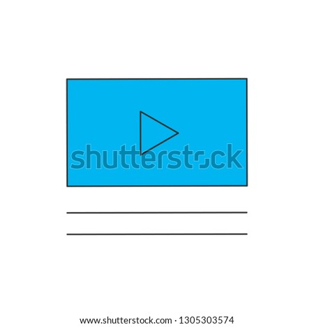 Video player in a flat style with comments or description. Vector illustration Isolated on white bac Stock photo © kyryloff