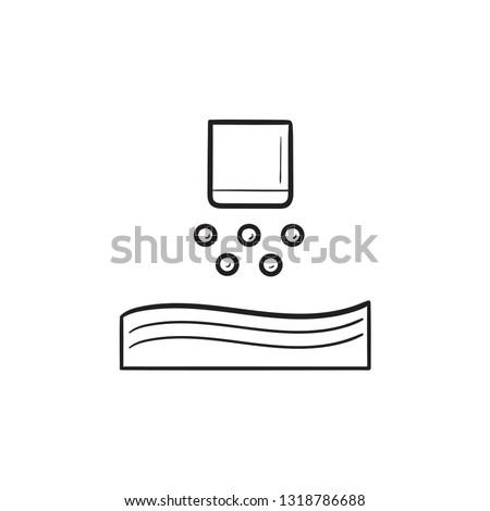 nanoparticle jetting 3d printer hand drawn outline doodle icon stock photo © rastudio
