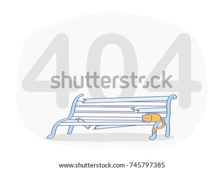 404 erro página bonitinho gato aviso Foto stock © Natali_Brill