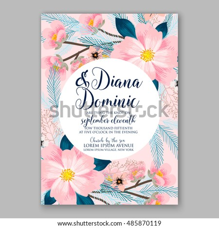 pink peony flowers watercolor banner vector exotic floral bouquet invitation wedding ceremony even stock photo © frimufilms
