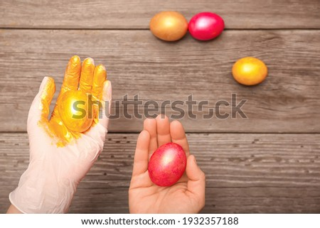 pastel · renkli · yumurta · orkide · kutlamak · Paskalya · kâğıt - stok fotoğraf © artjazz