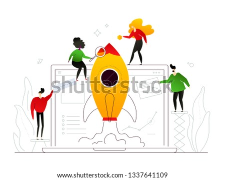 launching a project   modern flat design style colorful illustration stock photo © decorwithme