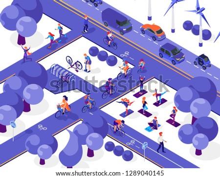 azul · coche · sedán · urbanas · carretera · paisaje - foto stock © tashatuvango