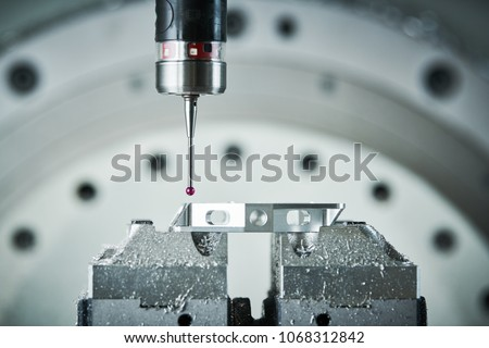 Quality control measurement probe. Metalworking CNC milling mach Stock photo © cookelma
