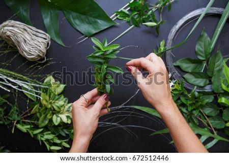 Florista manos tatuaje ramo Foto stock © artjazz