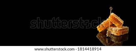 オーガニック はちみつ ワックス 櫛 黒 コピースペース ストックフォト © artjazz