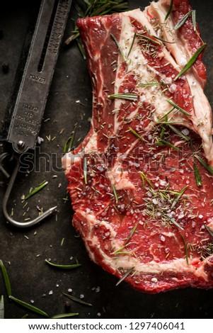Fresche greggio agnello carne pietra bordo Foto d'archivio © DenisMArt