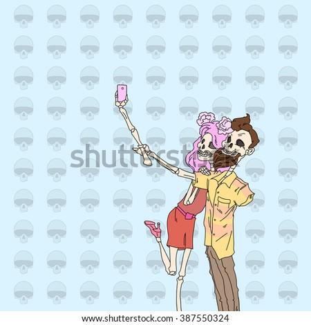 зомби · плакат · иллюстрация · графических · сердиться · Cartoon - Сток-фото © vicasso