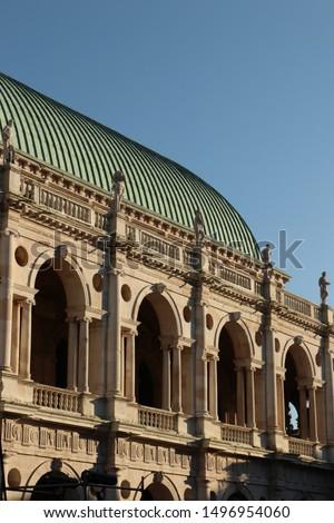 Heykel bazilika bakır çatı şehir görmek Stok fotoğraf © boggy