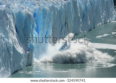 Global Warming and Climate Change - Icebergs from melting glacier on Greenland Stock photo © Maridav