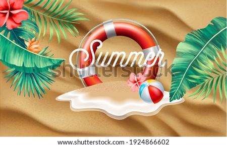 Verão venda projeto exótico palmeiras Foto stock © articular