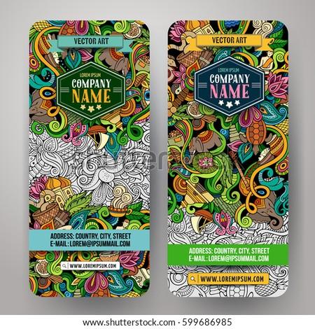 colorful vector hand drawn doodles cartoon set of india combinations stock photo © balabolka