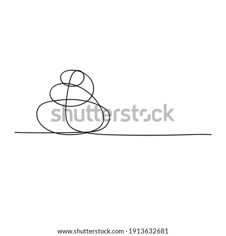 massage hand drawn vector doodles round illustration spa salon poster design stock photo © balabolka