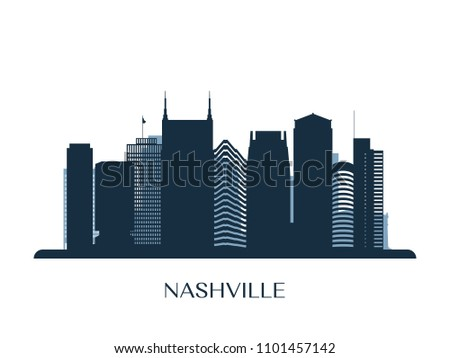 Silhueta cidade Tennessee cityscape linha do horizonte centro da cidade Foto stock © Winner