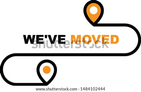 We have moved icon - resettlement, relocation and ecommerce deli Stock photo © Winner