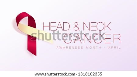 Hoofd nek kanker bewustzijn maand realistisch Stockfoto © olehsvetiukha