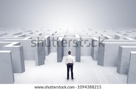 бизнесмен · вход · лабиринт · бизнеса · потеряли · выбора - Сток-фото © ra2studio