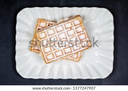 Бельгия сахар керамической пластина белый Сток-фото © marylooo