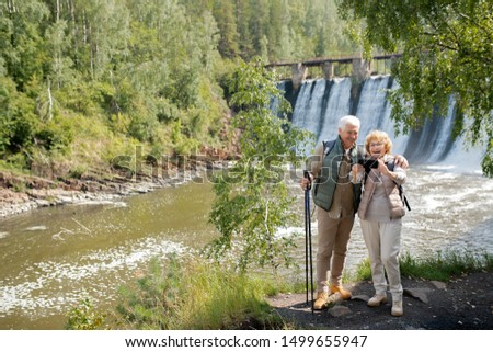Vrolijk watervallen permanente rivier Stockfoto © pressmaster