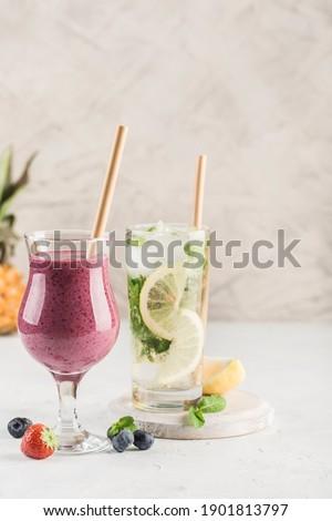 Stock fotó: Piros · friss · eprek · kettő · szemüveg · menta